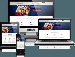 Kapperswebsite voorbeeld